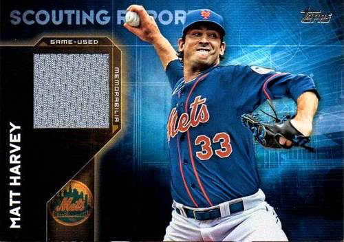 Photo of 2016 Topps Scouting Report Relics #SRRMHA Matt Harvey