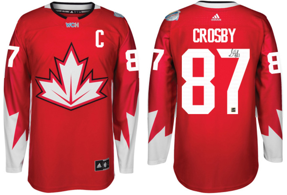 Sidney Crosby - Signed Team Canada Red World Cup 2016 Jersey