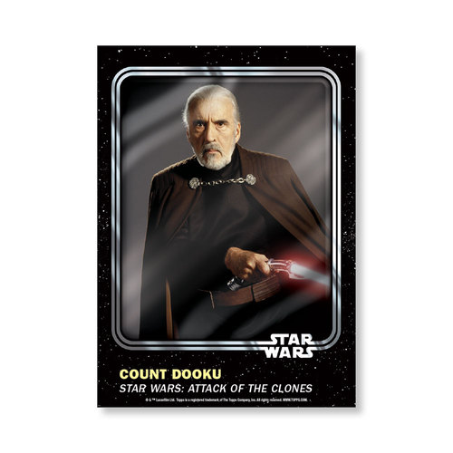 Count  Dooku 2016 Star Wars Card Trader Base Poster - # to 99