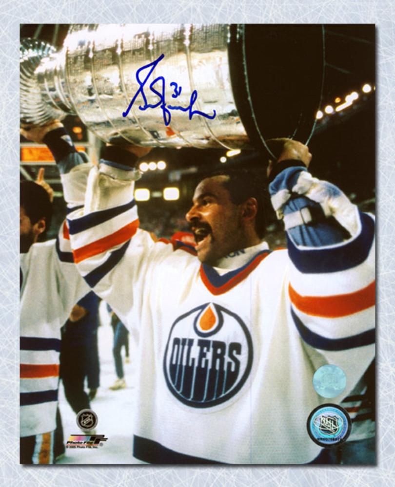 Grant Fuhr Edmonton Oilers Autographed Stanley Cup 16x20 Photo