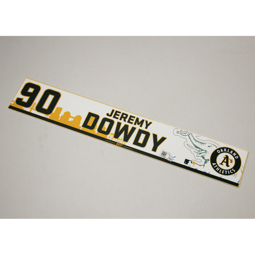 Jeremy Dowdy 2017 Home Clubhouse Locker Nameplate