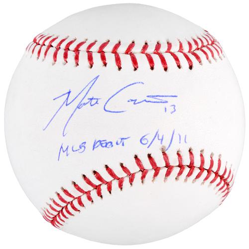 Photo of Matt Carpenter St. Louis Cardinals Autographed Baseball with MLB Debut 6-4-11 Inscription