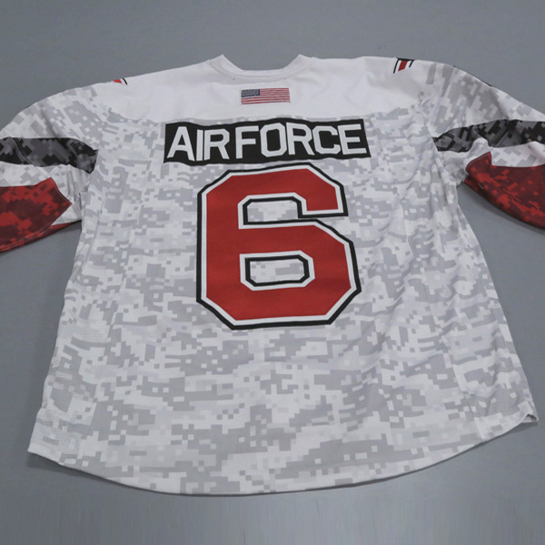"""Photo of Ohio State Ice Hockey Military Appreciation Jersey #6 """"Air Force"""" / Size 56"""