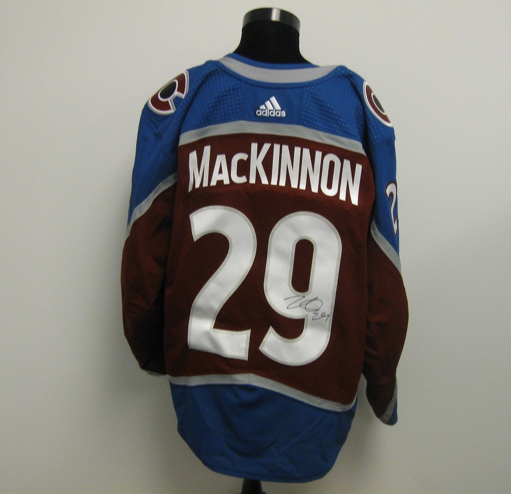 size 40 e9da3 c68f3 Nathan MacKinnon Autographed Event Worn Jersey from 2018 ...