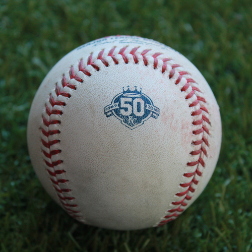 Photo of Game-Used Baseball: Chris Gimenez 197th Career Hit (MIN @ KC - 9/16/18)