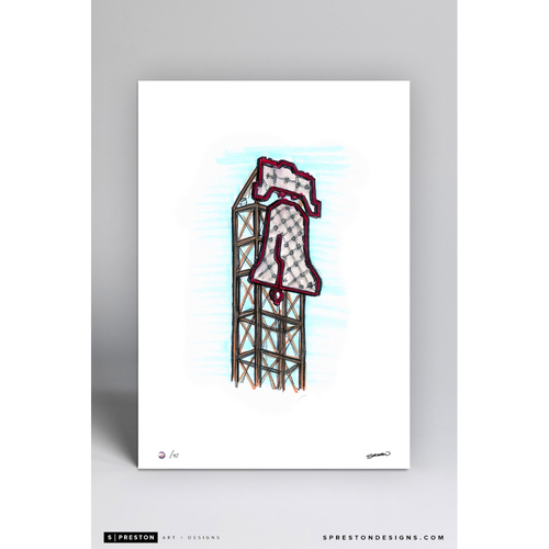 Photo of Citizens Bank Park Sketch - Limited Edition Print 5/42 by S. Preston