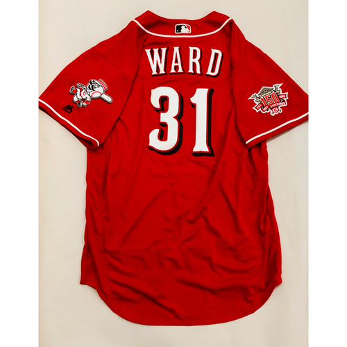 Photo of 2019 Mexico Series Game Used Jersey - Turner Ward Size 48 (Cincinnati Reds)