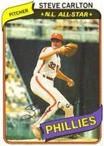 Photo of 1980 Phillies Burger King #15 Steve Carlton
