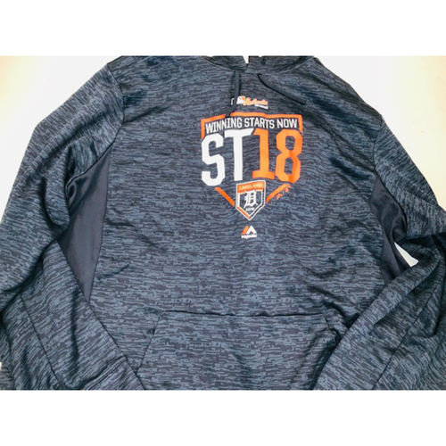 Team-Issued 2018 Spring Training Hoodie: #45