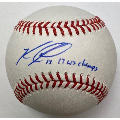 "Photo of Ken Giles ""2017 WS Champs"" Autographed Baseball"