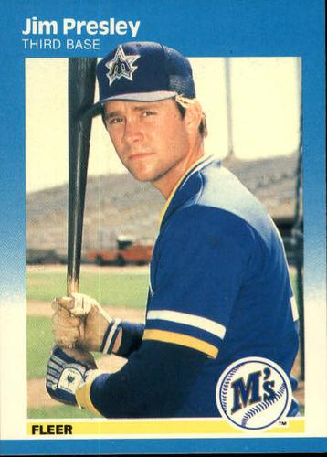 Photo of 1987 Fleer #594 Jim Presley