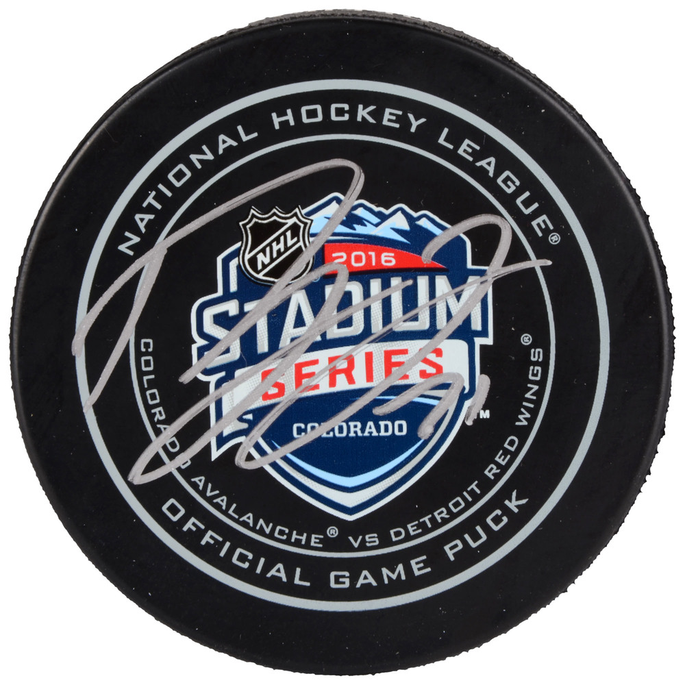 Dylan Larkin Detroit Red Wings Autographed 2016 Stadium Series Official Game Puck