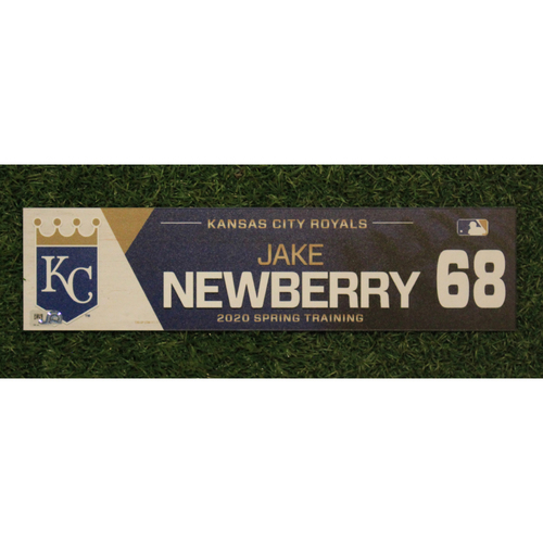 Photo of Game-Used Spring Training Locker Tag: Jake Newberry #68