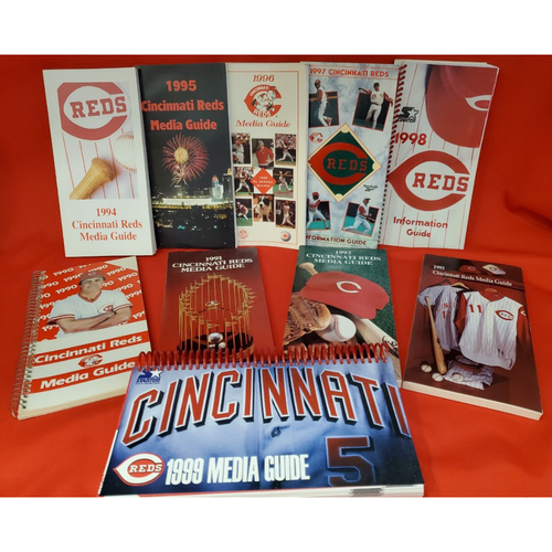 Photo of Decade of Media Guides for the 1990s - Includes World Series Season