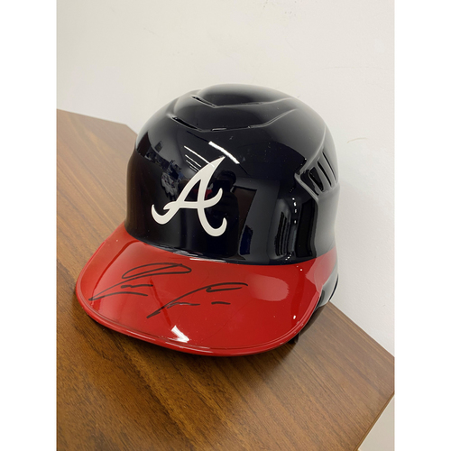 Photo of Ronald Acuña Jr MLB Authenticated Autographed Helmet - Large