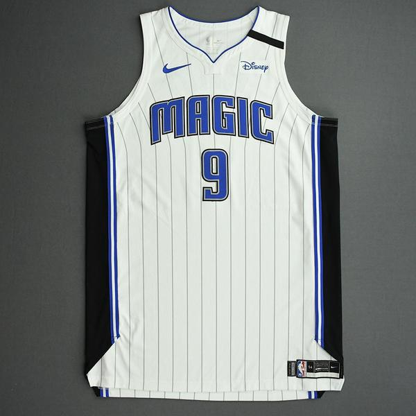 Image of Nikola Vucevic - Orlando Magic - Game-Worn Association Edition Jersey - Scored 22 Points - 2019-20 NBA Season Restart with Social Justice Message
