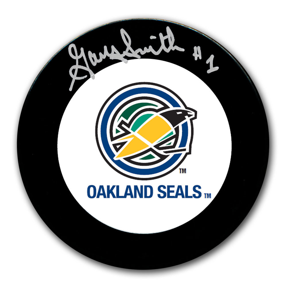 Gary Smith Oakland Seals Autographed Puck