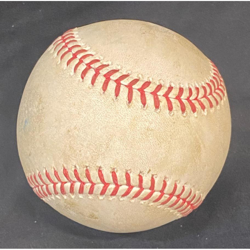 Photo of Game-Used Baseball: 9/30/20 Brewers @ Dodgers Wild Card: Batter: Orlando Arcia, Pitcher: Walker Buehler (Home Run)