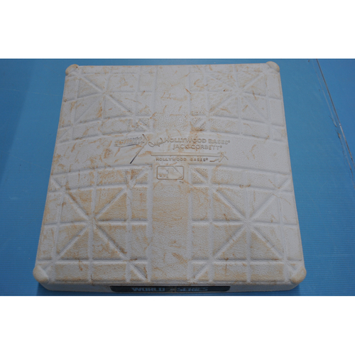 Photo of Game-Used 2nd Base: 2020 World Series - Los Angeles Dodgers vs. Tampa Bay Rays - Game 4: Innings 7-9