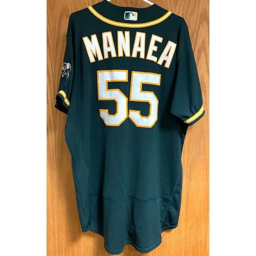 Photo of Sean Manaea Game-Used 2020 Postseason Jersey