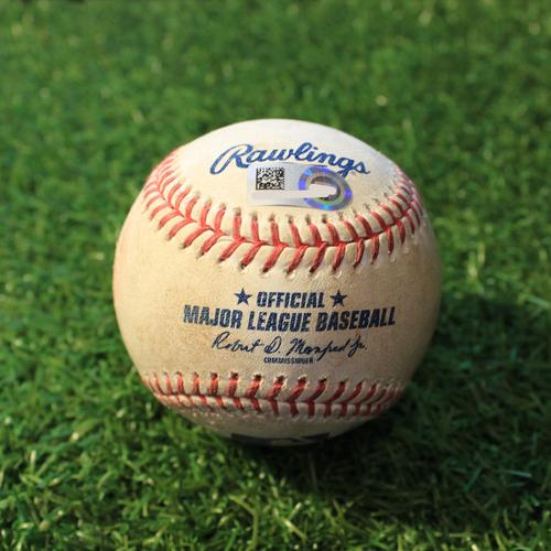 Photo of Game-Used Baseball: David Dahl 270th Career Hit (TEX@KC 4/1/21)