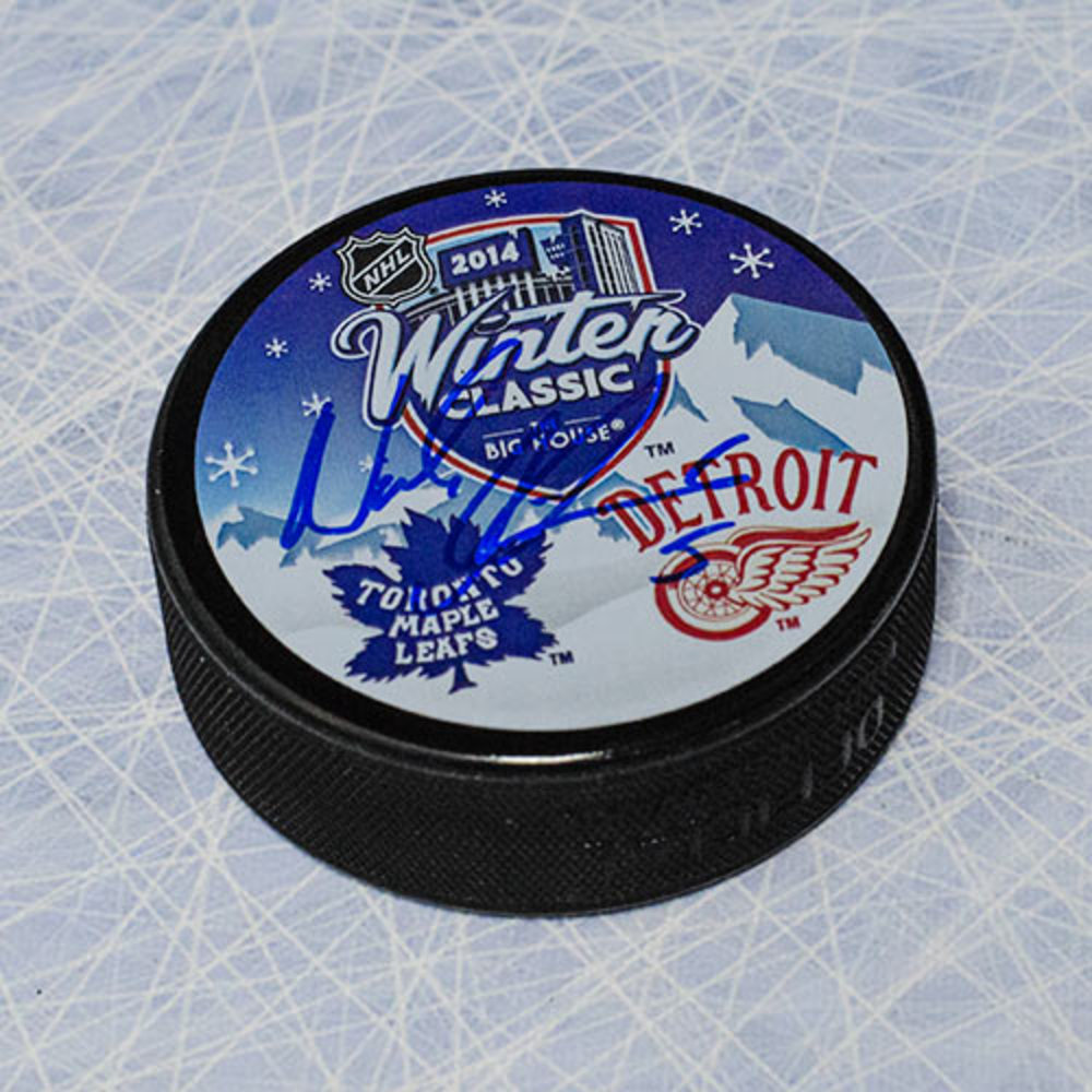 Nicklas Lidstrom Detroit Red Wings Autographed 2014 Winter Classic Puck