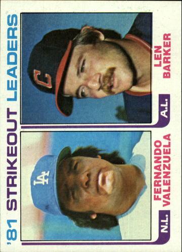 Photo of 1982 Topps #166 Fernando Valenzuela/Len Barker LL