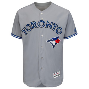 Toronto Blue Jays Men's Authentic Flex Base Road Jersey by Majestic