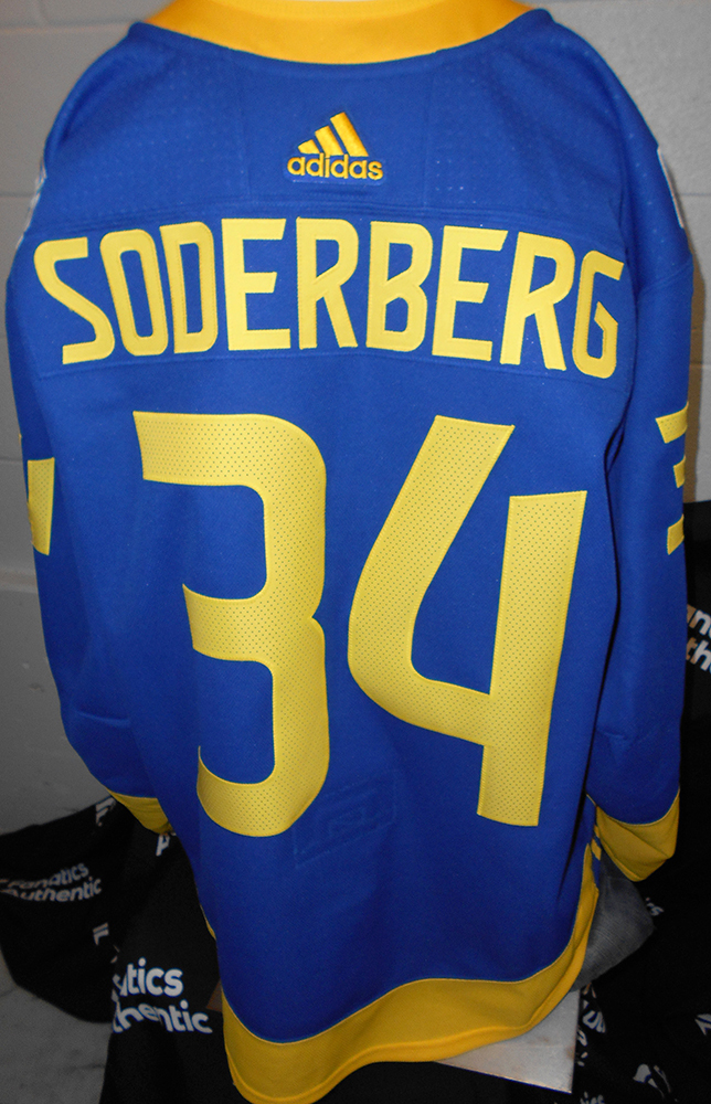finest selection 48fa9 27c8d Carl Soderberg Colorado Avalanche Game-Worn Home World Cup ...
