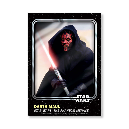 Darth Maul 2016 Star Wars Card Trader Base Poster - # to 99
