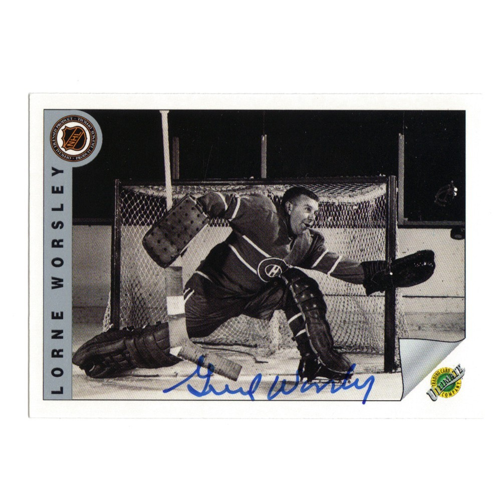 Gump Worsley (deceased)Autographed Montreal Canadians Hockey Card