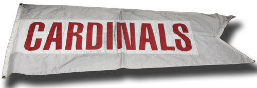 Wrigley Field Collection -- Rooftop Flag -- Cardinals