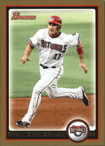 Photo of 2010 Bowman Gold #25 Ryan Zimmerman