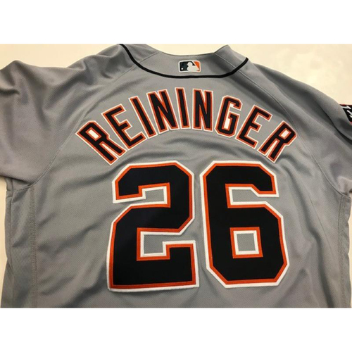 Photo of Game-Used Zac Reininger Road Jersey