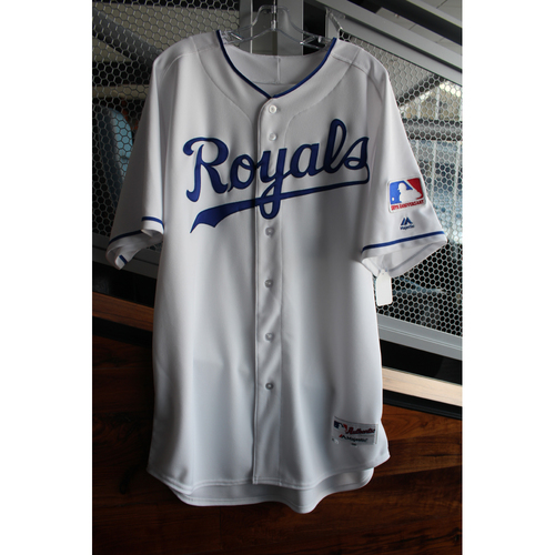 Photo of Game-Used 1969 Throwback Jersey: Jakob Junis (Size 48 - NYY at KC - 5/19/18)