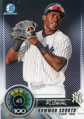 Photo of 2018 Bowman Chrome Scouts Top 100 #BTP45 Estevan Florial