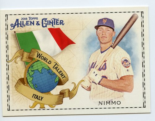 Photo of 2018 Topps Allen and Ginter World Talent #WT22 Brandon Nimmo