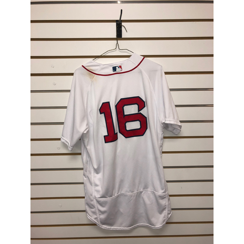 Photo of Andrew Benintendi Game-Used June 24, 2018 Home Jersey