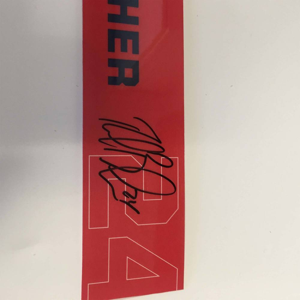 2019 Lexus AHL All-Star Locker Room Nameplate Used and Signed by #24 Reid Boucher
