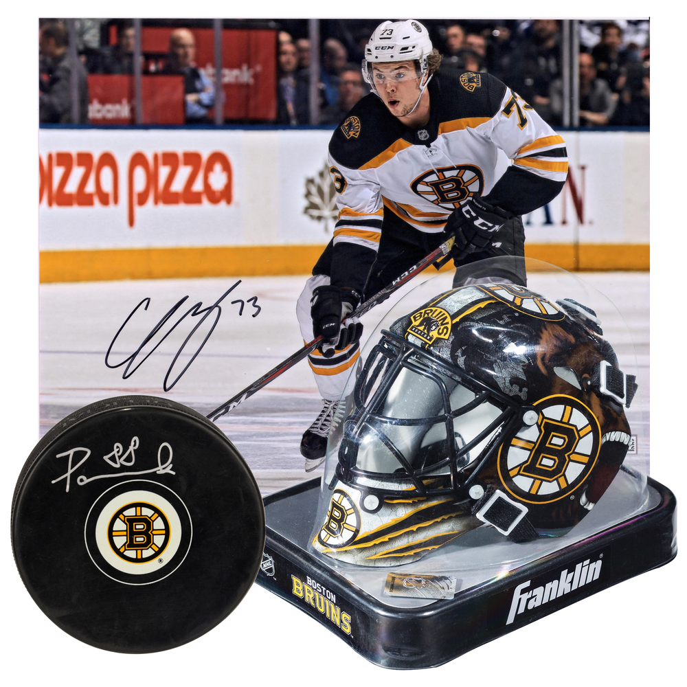 7f24ed3b Boston Bruins Collectibles Bundle Featuring Autographed Charlie ...