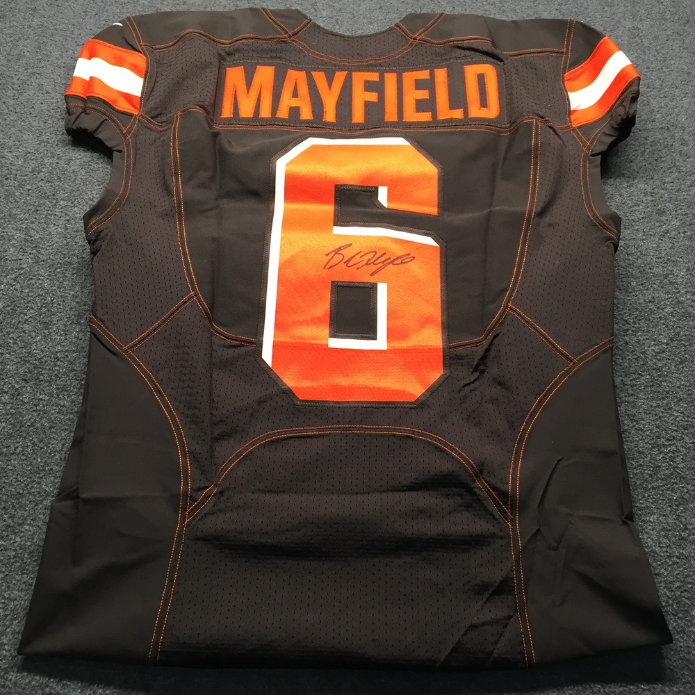 more photos 0e69a 9243e NFL Auction | NFL - Browns Baker Mayfield Signed Authentic ...