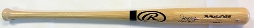 "Photo of Joe Morgan Autographed ""HOF 90"" Rawlings Bat"