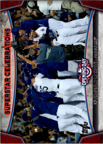 Photo of 2015 Topps Opening Day Superstar Celebrations #SC09 Clayton Kershaw