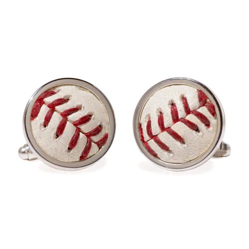 Photo of Tokens & Icons Arizona Diamondbacks Game Used Baseball Cuff Links