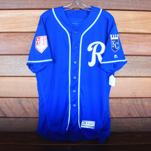 Photo of Game-Used Spring Training Jersey: Cheslor Cuthbert (Size 48 - COL @ KC - 2/25/19)