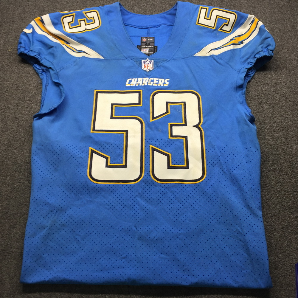 NFL Auction | Crucial Catch - Chargers Mike Pouncey Game Used ...