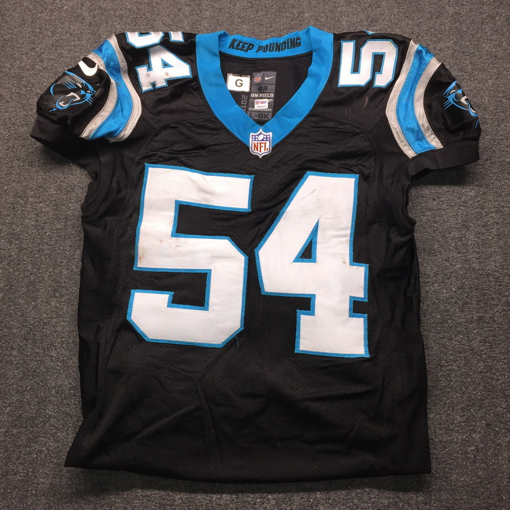 NFL Auction | STS - Panthers Shaq Thompson Game Used Jersey Size ...