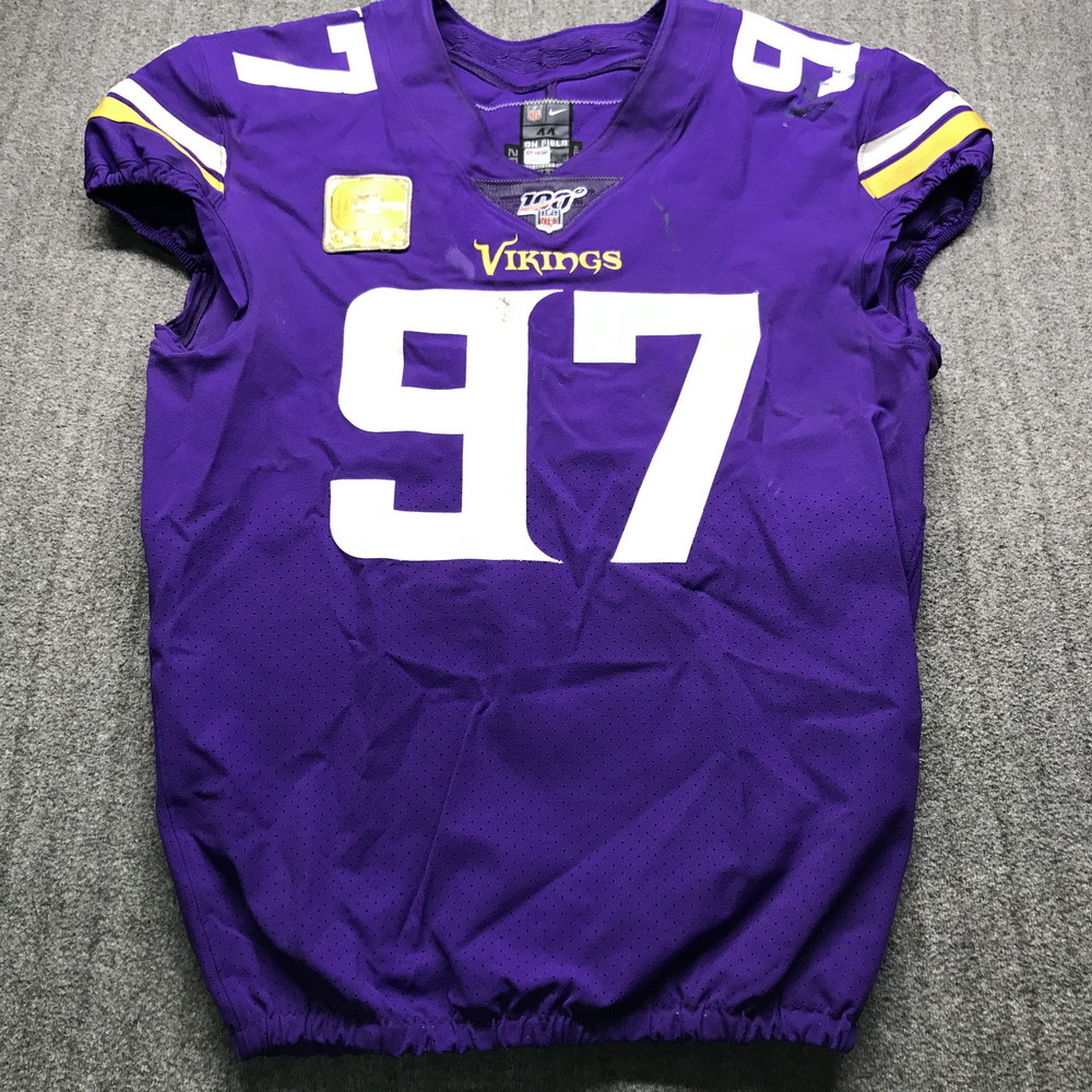 NFL Auction | STS - Vikings Everson Griffen Game Used Jersey (11 ...