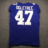 Crucial Catch - Giants Alec Olgetree Game Used Jersey (10/6/2019) Size 42 with Captains Patch Washed by Equipment Manager