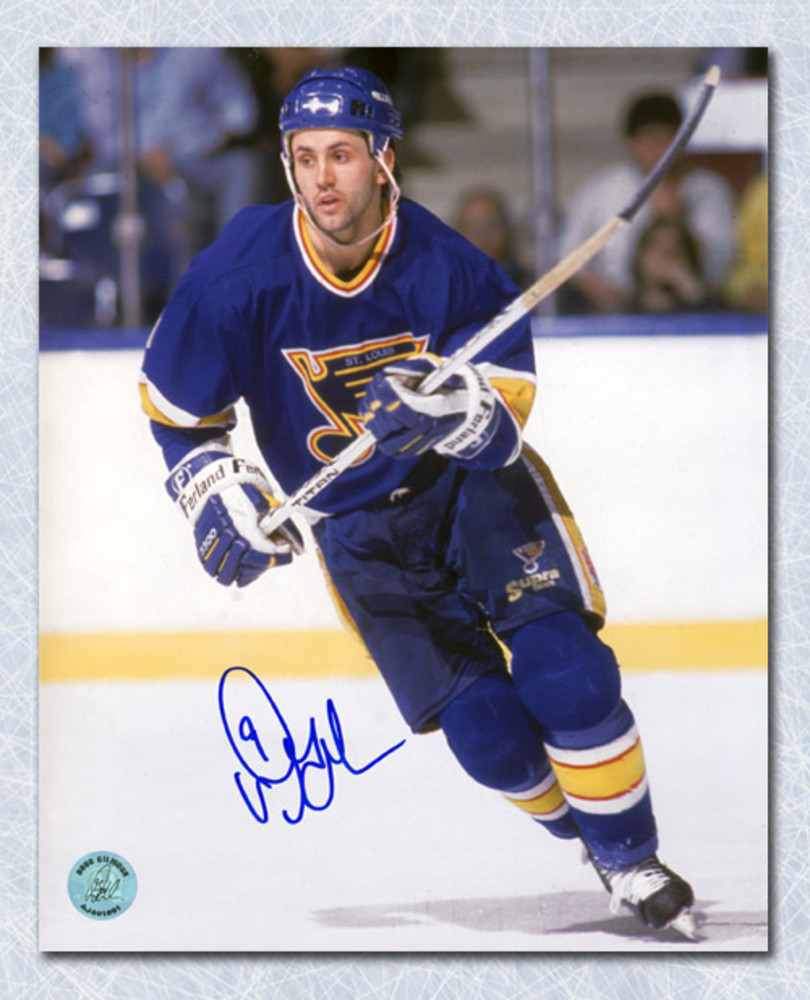 Doug Gilmour St. Louis Blues Autographed Hockey 8x10 Photo